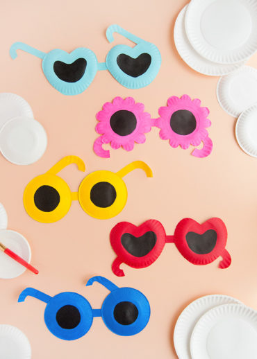 Painted Paper Plate Sunglasses