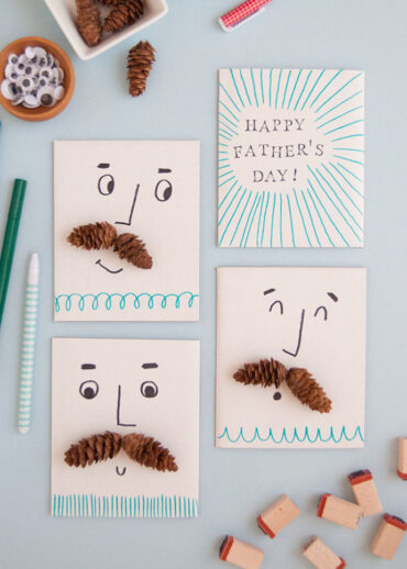 DIY Pinecone Father's Day Cards