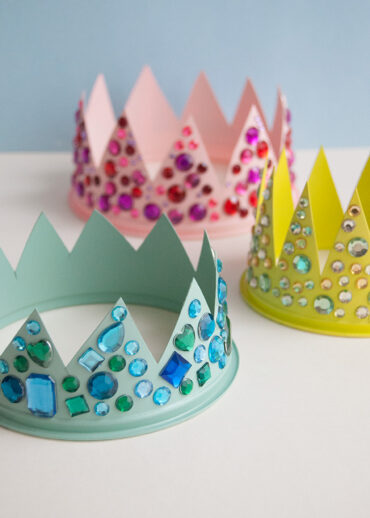 Upcycled Plastic Tub Crowns