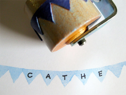 Projects: Pennant Rubber Stamp Roller