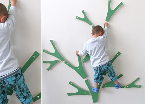 indoor climbing wall tree for kids