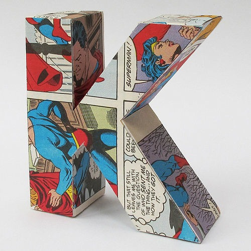 3d letter from vintage comics by letteroom