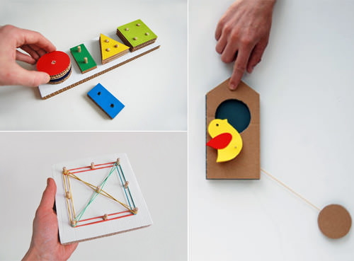 diy cardboard toys from play and grow blog