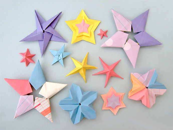 Galaxy of Origami Stars by Bloomize