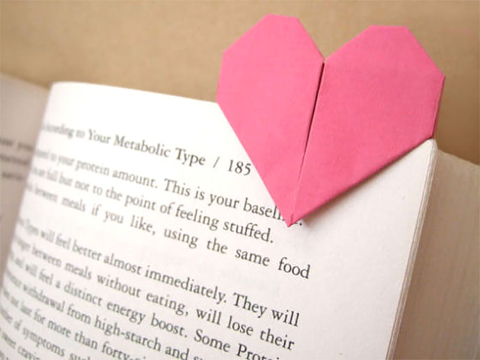 heart page marker by bloomize