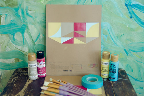 paint-by-number craft