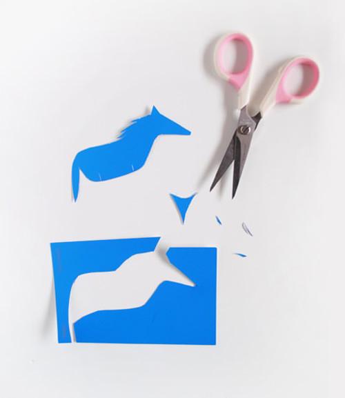 diy paint chip animals