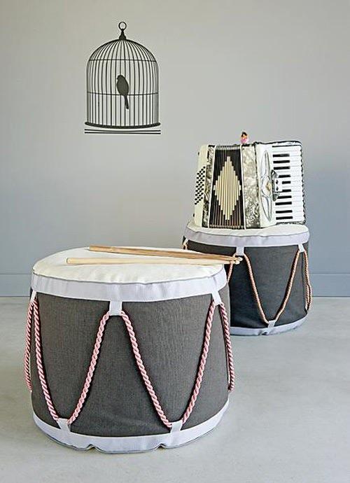 DIY drum stool