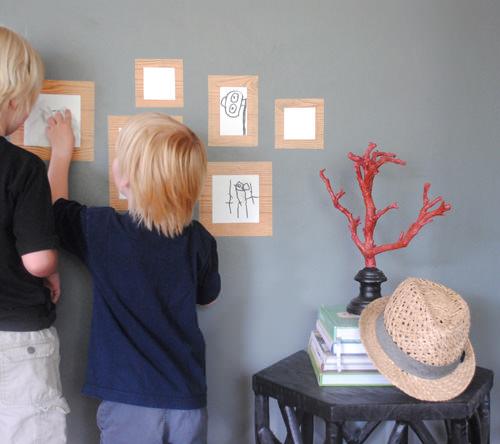 DIY Dry Erase Framed Gallery