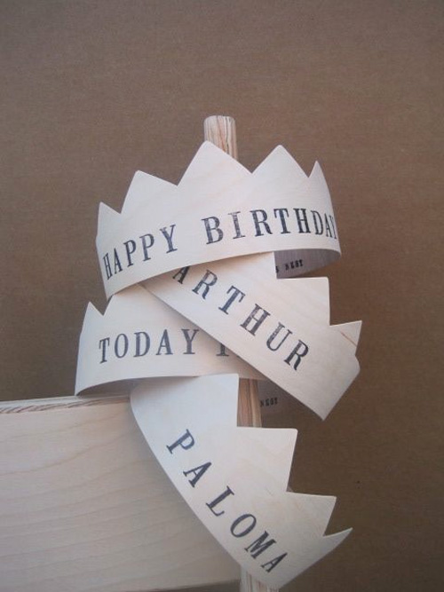 wooden party crowns