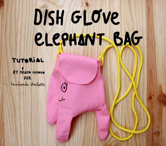 DIY Dish Glove Elephant Bag