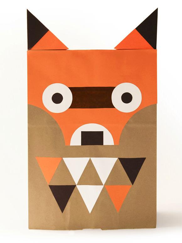 DIY Paper Bag Costume, The Fantastically Frightful Fox
