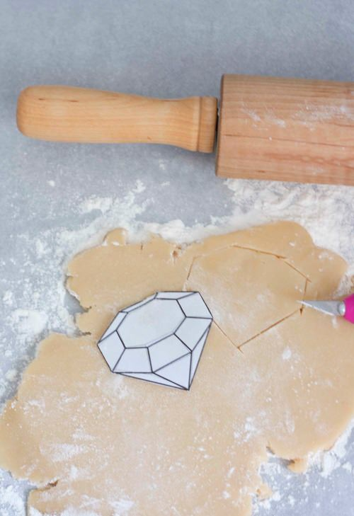 Edible Gem Cookie Necklace for Kids