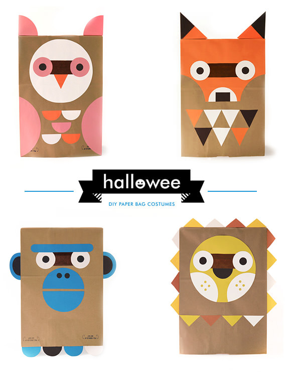 DIY Paper Bag Costumes for Halloween from Wee Society