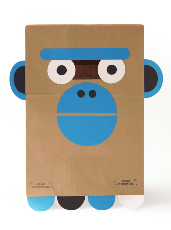 DIY Paper Bag Costume, The Ghoulish & Giggly Gorilla