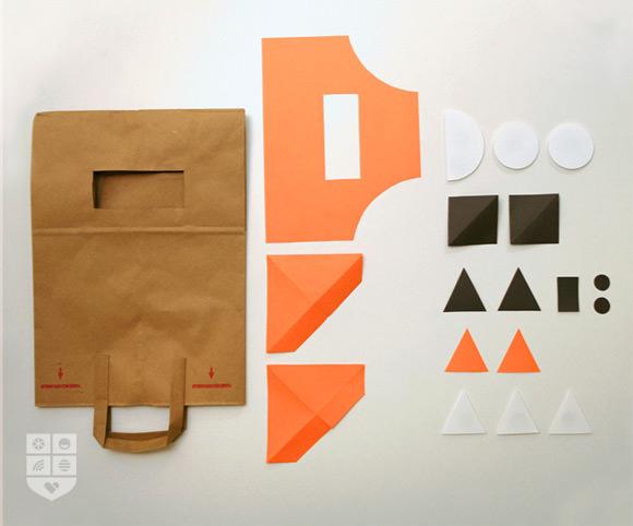 DIY Paper Bag Costume for Halloween