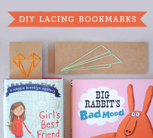 DIY Lacing Bookmarks