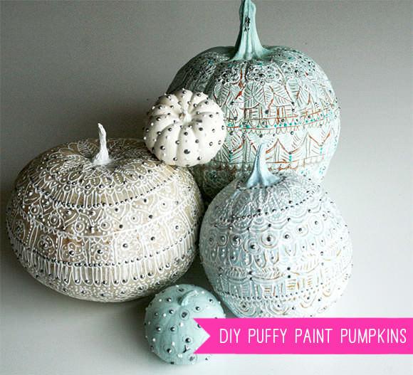 DIY Puffy Paint Pumpkin Tutorial