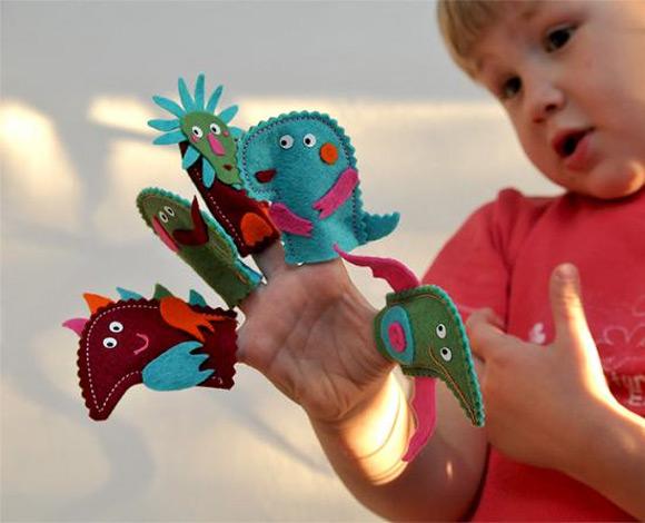 DIY Felt Finger Puppet Kit for Kids