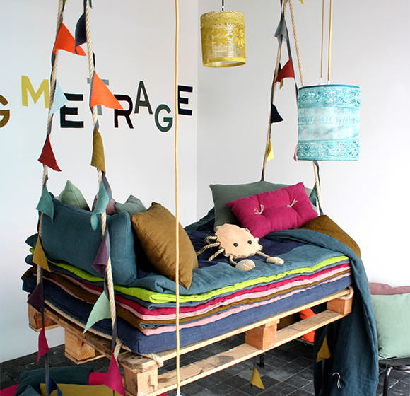 Colorful swing bed for kids
