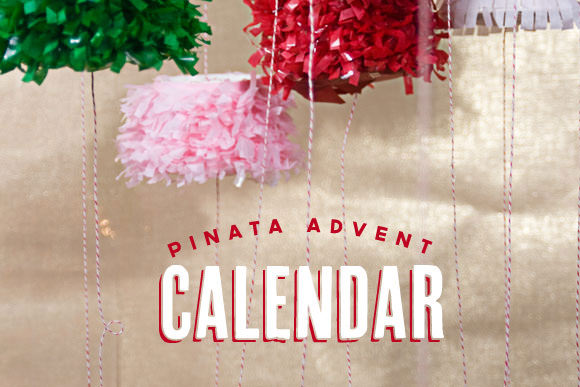 DIY Piñata Advent Calendar