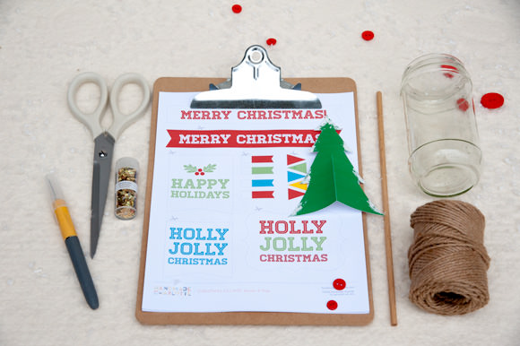 HP Printable Holiday VIllage