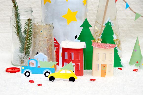 HP Free Printable Holiday Village