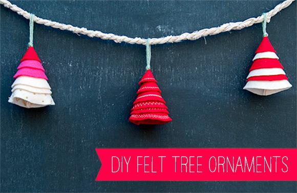 DIY Felt Tree Ornaments