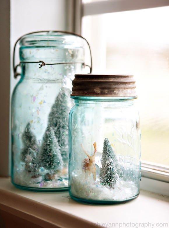 DIY Mason Jar Snow Globe