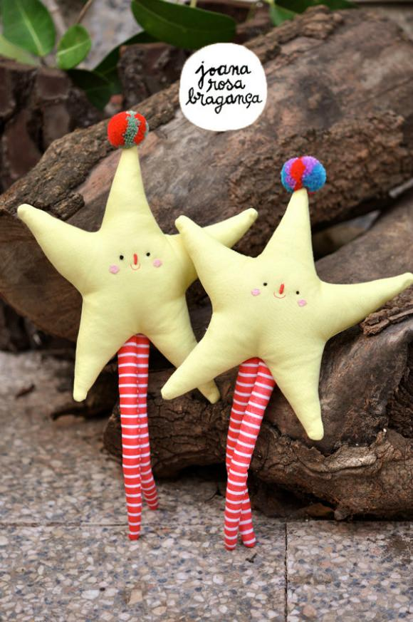 Handmade Pom-Pom Stars by Joana Rosa Braganca on Etsy