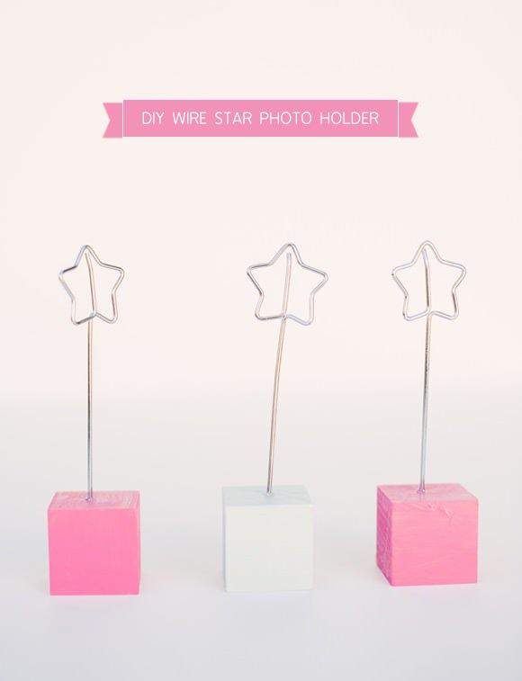 DIY Wire Star Photo Holder