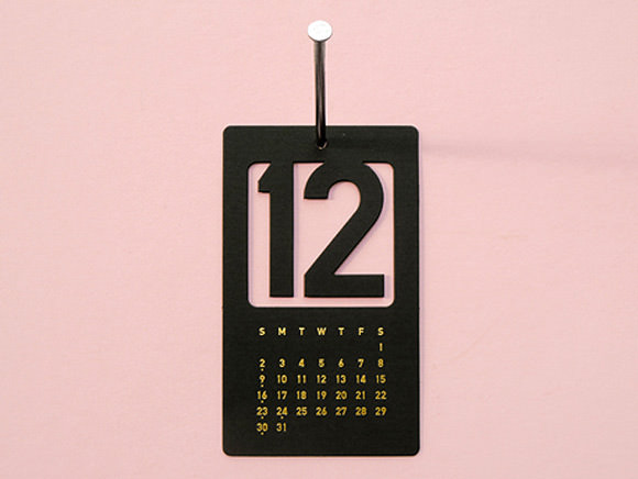 2013 Cut Out Number Calendar from Present&Correct