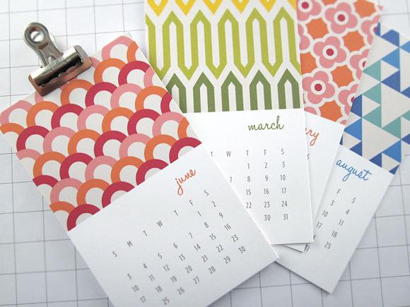 Modern Patterns Mini 2013 Calendar from Monkey Mind Design on Etsy