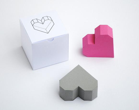 DIY Geometric Heart Box