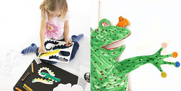 DIY Cardboard Puppet Mobiles