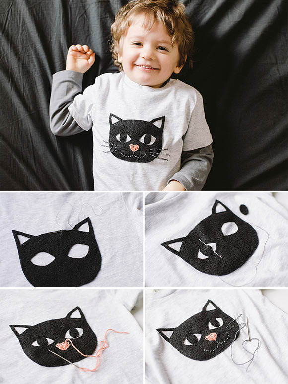 DIY Cat Kiddo Tee