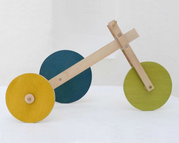 Asymmetricycle, a wooden toy by The Wandering Workshop on Etsy