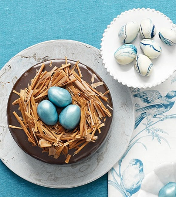 Rich Chocolate Cake with Truffle-Egg Nest