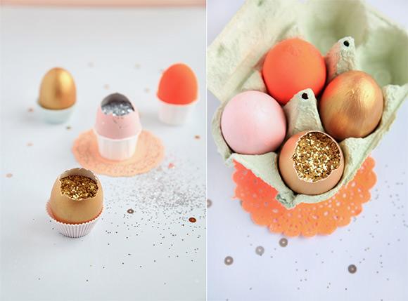 Glitter & Confetti Filled Easter Eggs