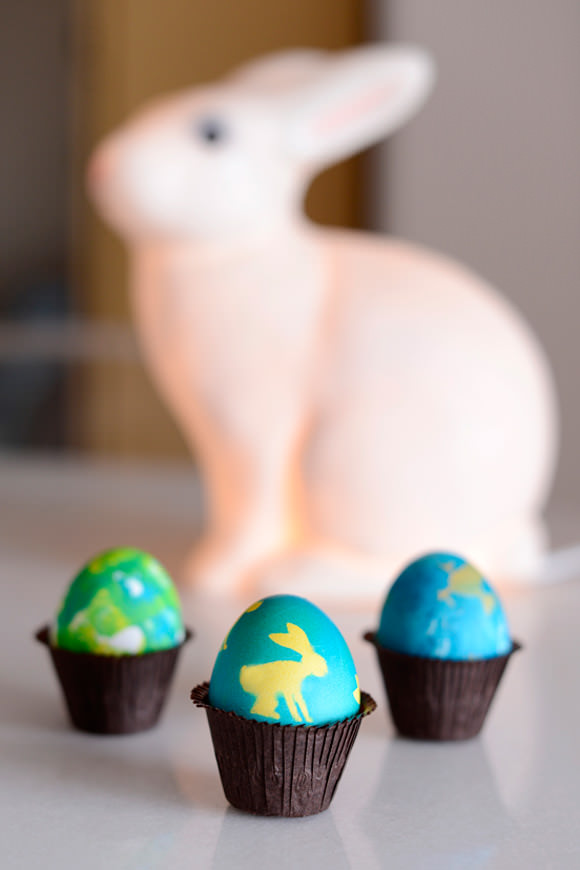 Decorating Easter Eggs With Sticker Silhouettes
