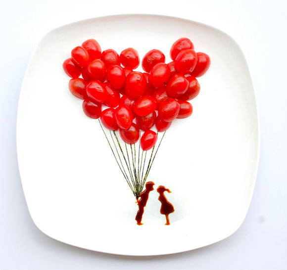 All You Need Is Love, Instagram Food Art by Hong Yi