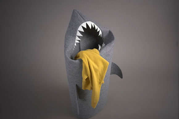 Kids Room Storage - Shark Laundry Basket