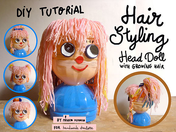 DIY Recycled Bottle Hair Styling Doll (with growing hair!)