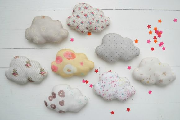 Decorate Cloud Pillows for Kids' Rooms