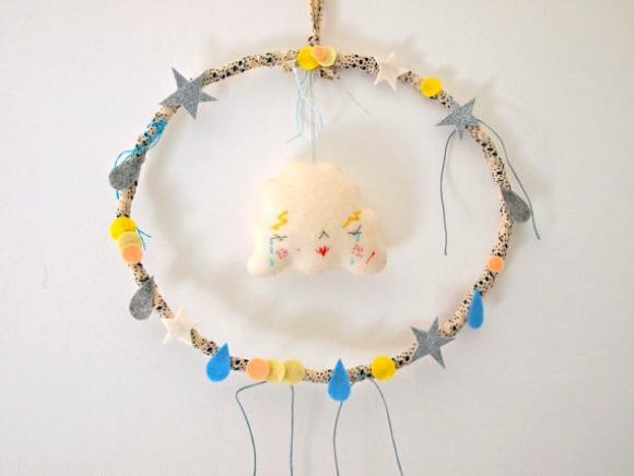 Felt Cloud Wreath for Kids
