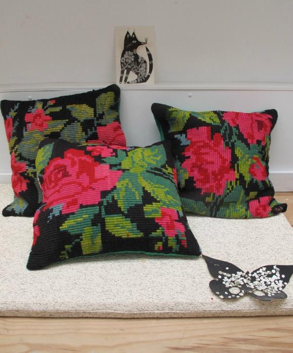 Romanian Flower Cushions from Les Petits Bohèmes