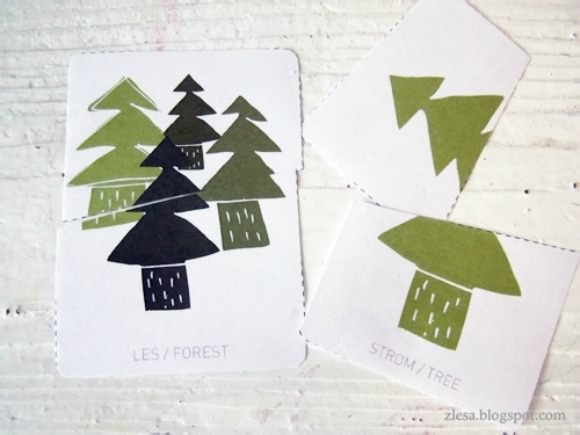 DIY forest puzzle by Z lesa