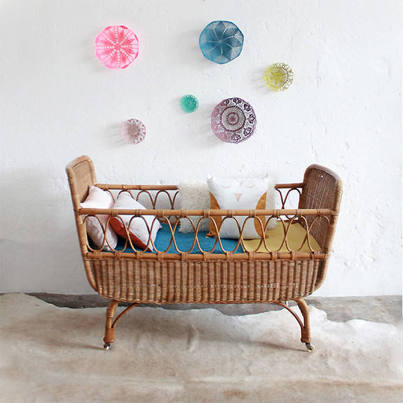 French Vintage for Kids' Rooms: Vintage Wicker Crib