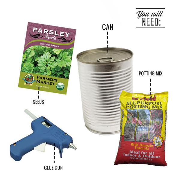 DIY Pop-Top Herb Garden