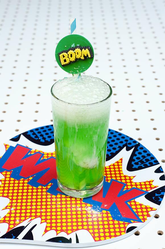 Super Science Party Drinks for Kids: Exploding Super Hero Slammer